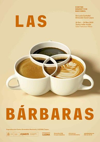 Cartel de la obra Las bárbaras realizado por Javier Jaén