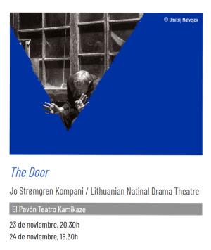 Cartel de la obra The door representada en el Teatro Pavón Kamikaze durante el Festival de Otoño