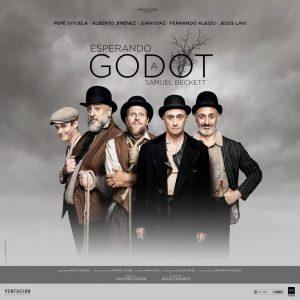 Cartel de la obra de teatro Esperando a Godot en el que aparece Pepe Viyuela