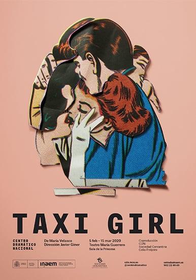 Cartel de la obra de teatro taxi girl