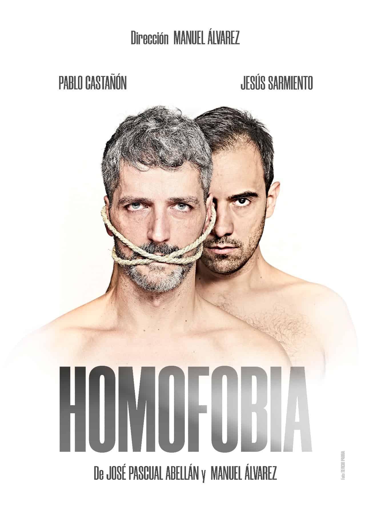 Cartel de la obra teatral Homofocia